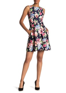 Vince Camuto Sleeveless Floral Print Fit & Flare Dress