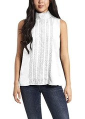 Vince Camuto Sleeveless Lace Trim Luxe Blouse