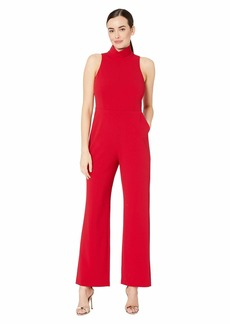 Vince Camuto Sleeveless Mock Neck Crepe Ponte Jumpsuit