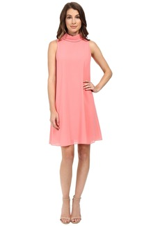 Vince Camuto Sleeveless Mock Neck Flyaway w/ Fitted Under Dress