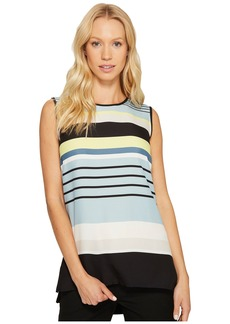 Vince Camuto Sleeveless Stripe Harmony Knit Back Top