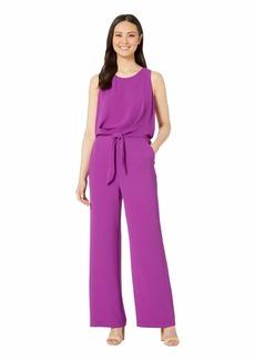 Vince Camuto Sleeveless Tie Waist Soft Texture Jumpsuit