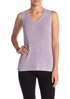 Vince Camuto Sleeveless Woven Knit Sweater