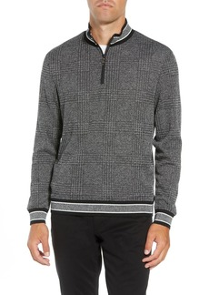 Vince Camuto Slim Fit Quarter Zip Pullover