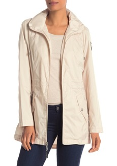Vince Camuto Solid Zip Front Hooded Jacket