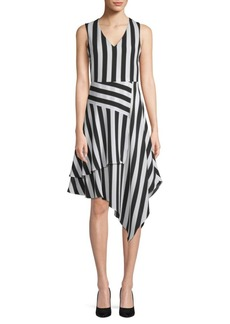 Vince Camuto Spectator Patchwork A-Line Dress