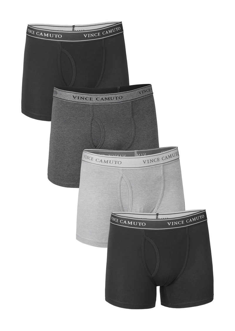 Vince Camuto Stretch Boxer Briefs - Pack of 4