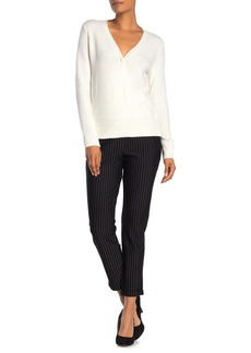 Vince Camuto Stripe Cropped Cuff Pants