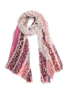 Vince Camuto Stripe Leopard Wrap