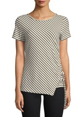 Vince Camuto Striped-Print Top