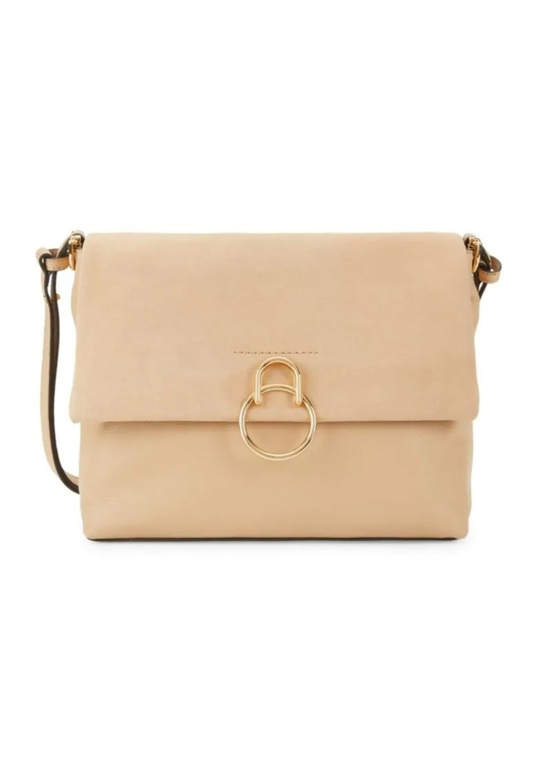 Vince Camuto Suede & Leather Flap Shoulder Bag