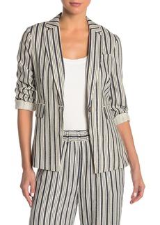 Vince Camuto Summer Stripe Linen Blend Blazer