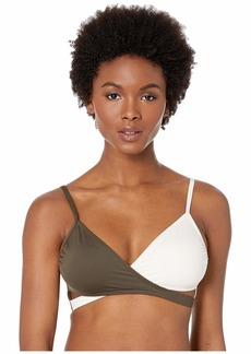 Vince Camuto Sunblock Color Block Wrap Bikini Top