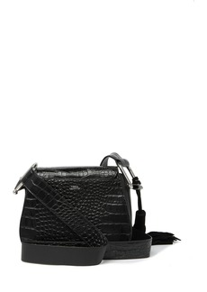 Vince Camuto Tal Leather Croc Embossed Crossbody Bag