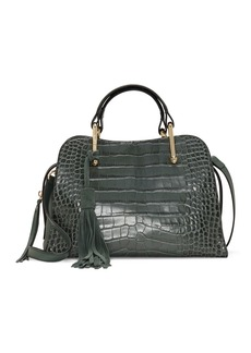 Vince Camuto Tal Leather Croc Embossed Satchel