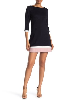 Vince Camuto Textured Colorblock Shift Dress