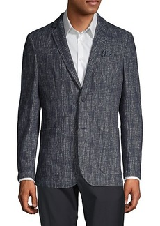 Vince Camuto Textured Cotton-Blend Blazer