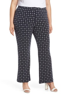 Vince Camuto Textured Foulard Flare Pants (Plus Size)