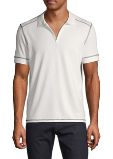 Vince Camuto Textured Short-Sleeve Polo