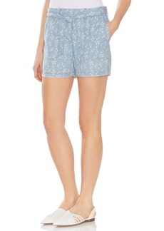 Vince Camuto Tie Waist Floral High Waisted Shorts