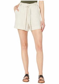 Vince Camuto Tie Waist Linen Shorts