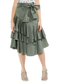 Vince Camuto Tiered Ruffle Midi Skirt