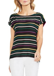 Vince Camuto Topic Heat Extend Shoulder Striped Blouse