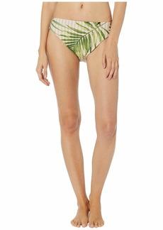 Vince Camuto Tropical Palm Reversible High Leg Bottoms