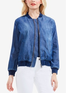 Two by Vince Camuto Cotton Denim Bomber Jacket