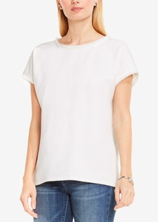 Two By Vince Camuto Cotton Frayed-Trim Top
