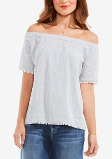Two by Vince Camuto Cotton Off-The-Shoulder Top