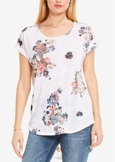 Two by Vince Camuto Floral-Print Burnout T-Shirt