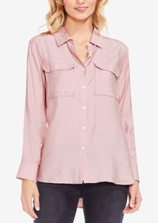 Two By Vince Camuto Flowy Button-Front Shirt