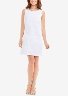 Two by Vince Camuto Frayed Denim A-Line Dress