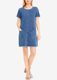 Two by Vince Camuto Frayed Denim Shift Dress