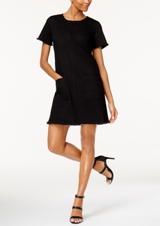 Two by Vince Camuto Frayed-Trim Shift Dress