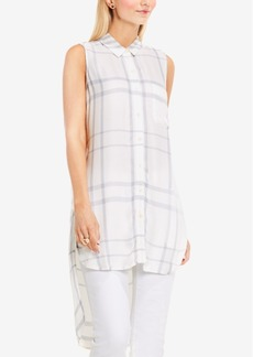 Two By Vince Camuto High-Low Plaid Tunic