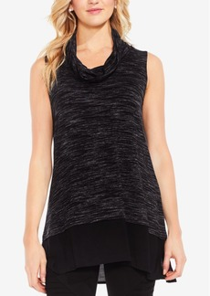 Two By Vince Camuto Layered-Look Space-Dyed Tunic
