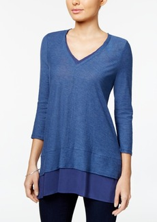 Two by Vince Camuto V-Neck Layered-Look Top