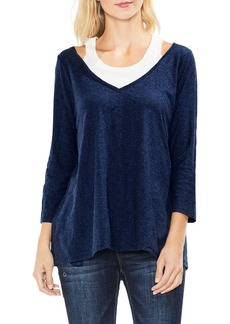Two by Vince Camuto Layered Top