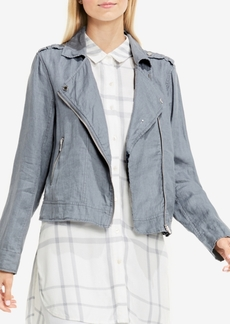 Two By Vince Camuto Linen Moto Jacket