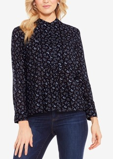 Two By Vince Camuto Mini Bouquets Printed Shirt