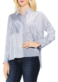 Two by Vince Camuto Mix Stripe Button Down Shirt