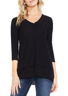 Two by Vince Camuto Mixed Media Tunic (Regular & Petite)