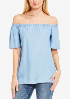 Two by Vince Camuto Off-The-Shoulder Chambray Top