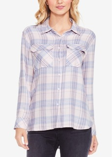 Two By Vince Camuto Plaid Daydream Button-Front Shirt
