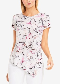 Two By Vince Camuto Printed Asymmetrical Top