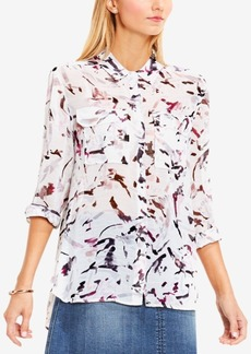 Two By Vince Camuto Printed High-Low Shirt