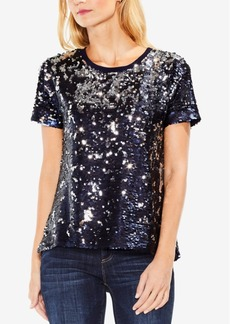 Two By Vince Camuto Sequined T-Shirt