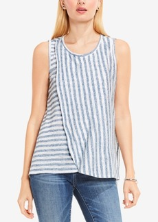 Two by Vince Camuto Striped Faux-Wrap Top